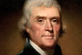 Portrait de Thomas Jefferson.