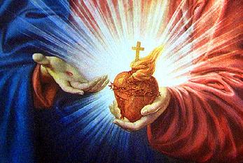 Le plus célèbre image du Sacré-Cœur de Jésus, par Pompeo Batoni.
