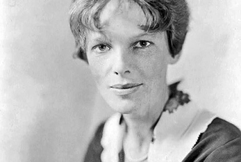 Le pionnier de l'aviation américaine Amelia Earhart.